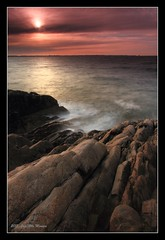 solnedgang 3 (Jan Atle Monsen) Tags: sunset seascape nature norway rock landscape waves landskap herdla varintrio