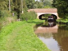 Caught on Camera! (DizDiz) Tags: uk england reflection staffordshire narrowboat weston trentmerseycanal olympusc720uz