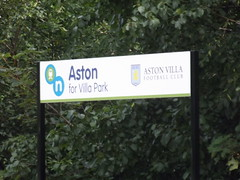 Aston Station - Aston for Villa Park - Aston Villa Football Club - sign (ell brown) Tags: greatbritain england birmingham unitedkingdom westmidlands aston astonvilla astonvillafc avfc astonvillafootballclub crosscityline chaseline lichfieldrd astonstation electrifiedrailwayline astonforvillapark lichfieldrdaston