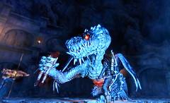 Dragon's Dogma Wyrm Battle (Malidicus) Tags: boss game whisper post dragons battle bow vein daggers dogma fey wyrm arisen everfall