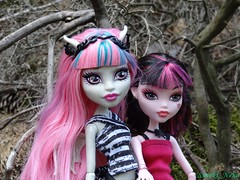 Branches sit in (Suteki_Neko) Tags: monster forest high doll branch moos rochelle goyle draculaura