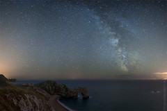 mind:blown (AndWhyNot) Tags: door panorama english field rock night way star coast nikon long exposure wide astro astrophotography dorset 24mm milky jurassic channel lulworth durdle 3718 d700