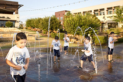 Splash Ash (clussman) Tags: park boy playing water composite photoshop austin outdoors play multiplicity multiples ash multiple splash ashton frenetic splashpad beecaves
