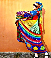 Kaleidocoat -  Multicolor Multimotif Striped And Hooded Hippie Crochet Coat (babukatorium) Tags: pink blue red orange flower color green art wool fashion yellow circle sweater rainbow colorful purple princess recycled handmade mosaic turquoise teal burgundy oneofakind coat crochet moda peach violet knit style mandala shades fairy shade blonde hexagon hood hippie patchwork psychedelic dreads filet rasta cardigan bohemian multicolor striped octagon whimsical extensions mintgreen haken icord häkeln emeraldgreen crochê ganchillo babypink fuxia uncinetto yarnhair woolhair yarndreads かぎ針編み dreadextension tığişi horgolt uvgreen wooldread woolrovingdreads fakedread babukatorium
