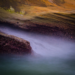 Flow (Alan Drake) Tags: orange green water yellow nikon rocks long exposure surf d7000