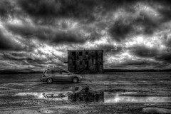 Davidstow Control Tower (HDR) (mplatt86) Tags: car clouds reflections planes hdr controltower airfield peugot worldwartwo davidstow