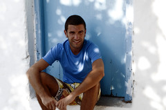 Portrait in blue (bene_romani) Tags: blue portrait people man men portraits greek europa europe mediterranean mediterraneo hellas creta greece grecia crete ritratti ritratto kriti greekisland mansportrait greekblu