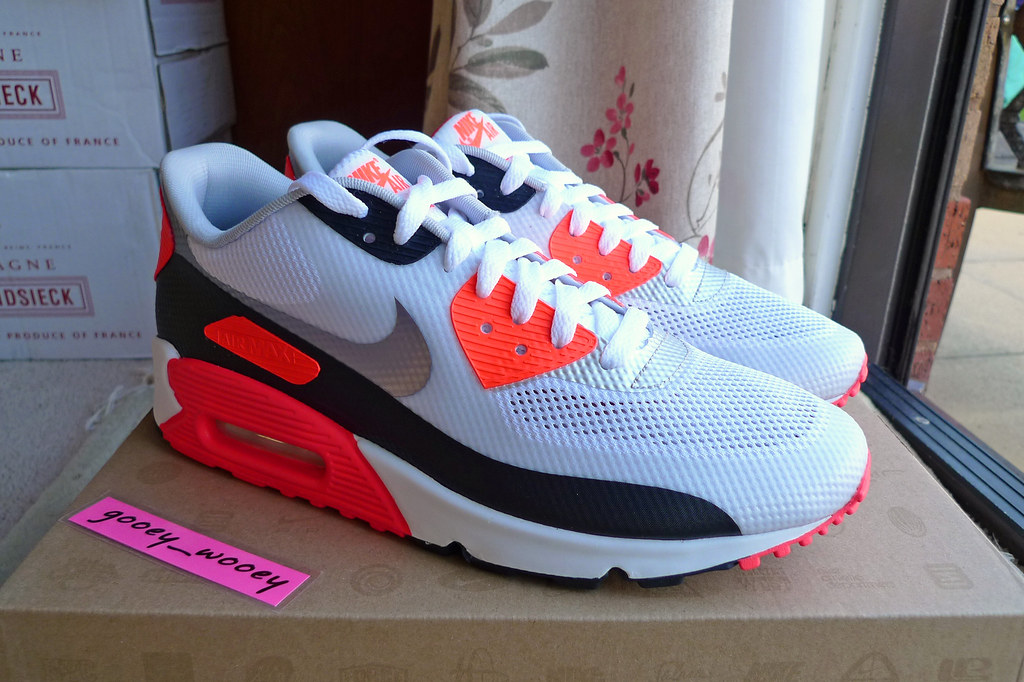 Nike Air Max 90 Hyperfuse NRG 'White / Cement Grey - Infrared' (548747