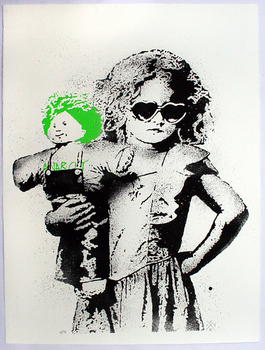 """dolled up"" print, green"