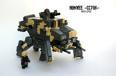 Humvee 'Mech-CCt' ([Stijn Oom]) Tags: fiction lego contest science camouflage scifi humvee mech brickarms cc708