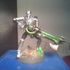 Necron Warrior (geekolas) Tags: space battle 40k warhammer warriors marines 40 000 wargames immortals necrons immortels