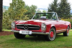 1966 230 SL automatic (D70) Tags: park city canada vancouver bc waterfront north 1966 sl mercedesbenz automatic 230 2012