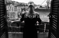 Be Italian (Sara_Morrison) Tags: blackandwhite italy black window sara italia dress finestra nero biancoenero vestito blackwhitephotos saramorrison