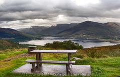 Viewing Point (Muzammil (Moz)) Tags: lake bench scotland bennevis moz muzammilhussain vewingpoint lockclunie