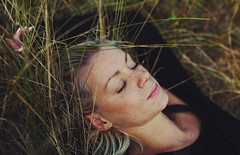 as the time goes by. (Amanda Carlsson) Tags: light portrait woman amanda nature girl beautiful grass canon photography 50mm pretty dof natural sweet sweden bokeh sigma 5d serene freckles relaxed falsterbo carlsson