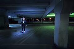 Where the Machmen meet (American-Psycho-UK) Tags: lighting city girl composite female model spotlight pocket parkade wizards sb800 strobist sb900