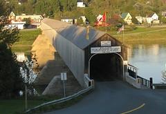 hartland bridge (Mr.  Mark) Tags: bridge canada river photo stock tunnel landmark guinness newbrunswick covered longest hartland worldrecord markboucher
