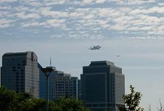 Over Downtown Sacramento (C.Cal.Shoot) Tags: plane fly pentax shuttle sacramento 747 endeavor