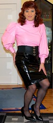 Birgit012571 (Birgit Bach) Tags: rock shiny skirt blouse tight eng pvc bluse