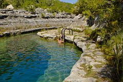 """6000 - """"Blue Hole"""", Frio River (Artistic Pursuits-Rob Strovers) Tags: texas hillcountry bluehole selfpic skinnydipping texashillcountry leakeytexas texaslandscape artisticpursuits frioriver wwwartisticpursuitsnet robertdstrovers artisticpursuitsphotography 2012allrightsreserved texaswanderings"""
