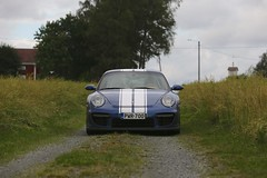 "997 turbo - 014 (Erkka Suominen) Tags: ""cobalt blau porsche"" blue ""bridge gantry"" nürburgring ""porsche 911 turbo"" ""911 ""997 ""pwr700"" ""evoms evt775"" ""evt775"" ""nürburgring bridge pccb"