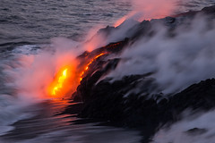 Hawaii in the Act of Growing (geekyrocketguy) Tags: lava ocean 61g hawaii bigisland wow