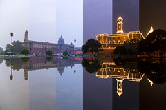 Timelapse Images of North And South Block (nimitnigam) Tags: time timeinterval timelapse timelapses lapse night nightphotography nightscape nightscapes nightphotos nightphoto image images photo photos photography nimitnigam nimit nigam nikon nikkor 1855mm f3556g lens lenses camera nikond800 d800 travel india indian delhi new newdelhi delhite gaste gate incredible reflection reflecting president house north south block architecture water long exposure longexposure kit indiapicture indiapictures fountain cliche shot shots city landmark landmarks blue hour bluehour twilight color pass paas intervals intervalometer independence day