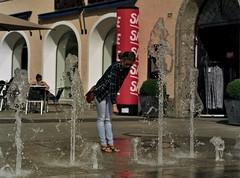Refreshing (BenjaminSeibert) Tags: water fountain portra160 mamiya645 summer austria salzburg sekorc