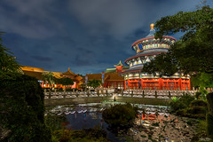 A Night In China (Michael Billick) Tags: waltdisneyworld wdw resorts orlando photography amusementparks disneyphotoblog disneyphotography disneyparks disneyworld florida hdr kissimmee nikon nikond610 epcot longexposure nightphotography reflections chinapavilion china