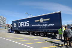 17/8.2016 - just before the big reveal (julochka) Tags: lorry lastbil truck lego ship dfds