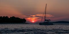 Sunset (slo.Metallc) Tags: sunset sun endofday dusk nature sea boat sonyilca77m2 tamron16300mmf3563diiipzdmacro evening