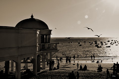 La Caleta (Cdiz) (ZAP.M) Tags: bn playa naturaleza atardacer sunset nikon nikond5300 flickr zapm lacaleta cdiz anadaluca espaa mpazdelcerro