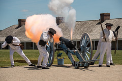 Cannon Fire 1s (Greg Riekens) Tags: cannon soldiers fortsnelling history usa stpaul military fire muzzleflash minnesota