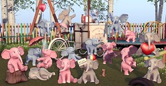 Charming Elephants by Mutresse (Eeky Cioc) Tags: original mesh arcade event materials cute animals
