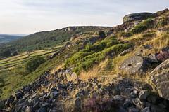Curbar edge from Baslow edge (Keartona) Tags: millstone derbyshire landscape peak district peakdistrict england edge summer august curbar