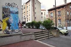 Abelona (HBA_JIJO) Tags: streetart urban vitry vitrysurseine hbajijo wall mur painting collage peinture wheatpaste street paper paris94 urbain girl papier photo rue view image