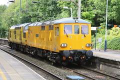 NR 73951 Malcolm Brinded & 97303 @ Kidsgrove (uksean13) Tags: 73951 97303 kidsgrove networkrail yellow diesel locomotive loco engine canon 760d ef28135mmf3556isusm malcolmebrinded