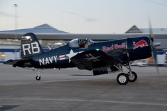 OE-EAS Chance-Vought F4U-4 Corsair (Jersey Airport Photography) Tags: jersey egjj jer jerseyairdisplay oeeas chancevought f4u4 bulls corsair flyingbulls