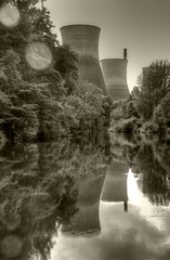 Ironbridge (Snowy5) Tags: shropshire ironbridge gorge power station towers decommisioned river severn blackandwhite portrait canon600d 1785mm snowy5