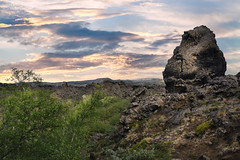 catacombs of hell (-justk-) Tags: dimmuborgir rocks lava landscape northiceland iceland sunset rockformation hverfjall hverfell