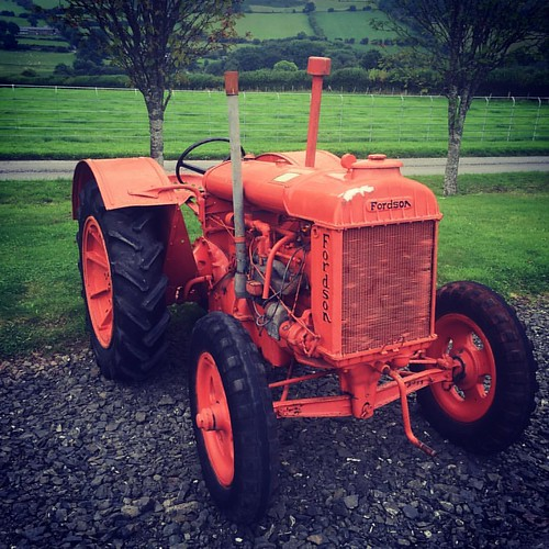 Fordson tractor made by Ford #tractor #orange #agriculture