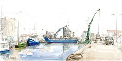L'Ile d'Yeu, Port Joinville (Croctoo) Tags: aquarelle bateaux port iledyeu yeu croctoo croctoofr croquis vendée