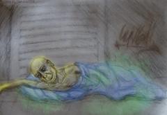 Uomo di Saragozza (AltoEnGrasas) Tags: dibujo ilustracion italia bolonia bologna draw illustrator man poor pobreza homeless street calle callejero italy