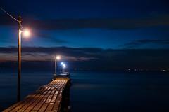 Haraoka - pier  / Canon EOS60D:SIGMA 17-50mm F2.8 EX DC OS HSM (telenity) Tags: japan landscape ocean pier tateyama haraoka night light view       eos60d sigma