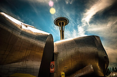 EMP Museum & Space Needle (Flipintex Working my way back slowly!!!) Tags: seattle museum washington space needle emp nikonflickraward nikonflickrawardgold nikonflickrawardplatinum flipintex