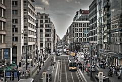 Berlin, Friedrichstraße (manganite) Tags: 4exp berlin catchycolors cityscape color colorefexpro colorful d200 dark desaturated europe friedrichstrase germany hdr hdri highdynamicrange lightroom manganite nikon photomatix photoshop tl toned urban urbanlandscape vignette warm ber nikond200 2875mmf28 f80 190sec 190secatf80 iso200 geotagged geo:lon=13388313888888 geo:lat=52519952777778 date:year=2011 date:month=juni date:day=10