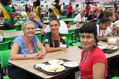 Sharing a meal with family in the main dining hall (Ashleigh Moolman Pasio) Tags: olympicvillage london2012
