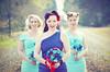Bride & Bridesmaids (Ekler) Tags: railroad flowers blue wedding beautiful train bride dress tracks retro bridesmaids lanastowersphotography