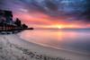 rise 'n shine, my friends (dK.i photography) Tags: longexposure morning beach clouds sunrise reflections dawn sand colorful maryland pastels northbeach boardwalk chesapeakebay waterscape neutraldensity canon5dmkii singhrayrgnd ef1740f40lusm
