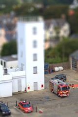 Toy Fire Truck (Ningaloo.) Tags: tower station truck fire miniature fake shift emergency tilt guernsey tiltshiftmakercom